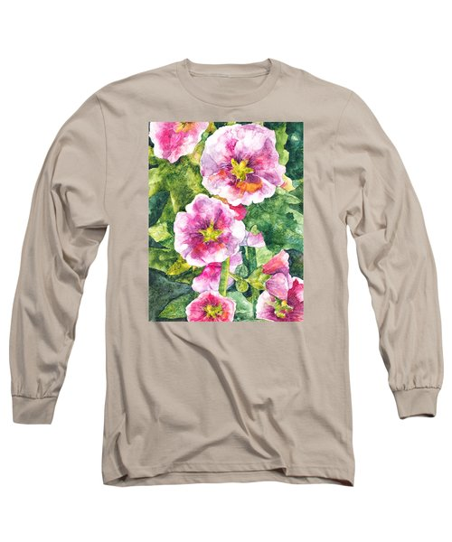 Long Sleeve T-Shirt featuring the painting Secret Garden by Casey Rasmussen White