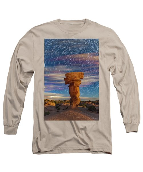 Secret Spire And Star Trails Long Sleeve T-Shirt