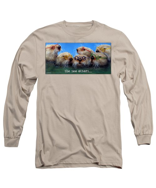 See Otters... Long Sleeve T-Shirt by Will Bullas