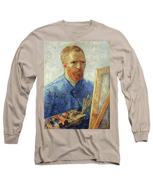Long Sleeve T-Shirt featuring the painting Self Portrait As An Artist by Van Gogh