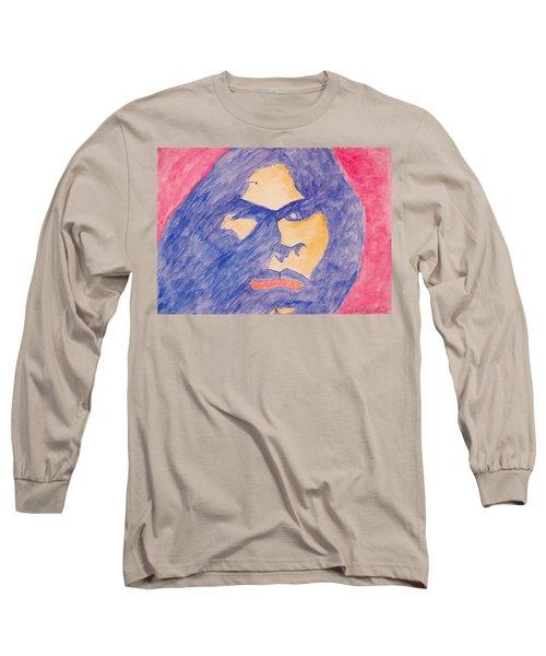 Self Portrait Long Sleeve T-Shirt by Jose Rojas
