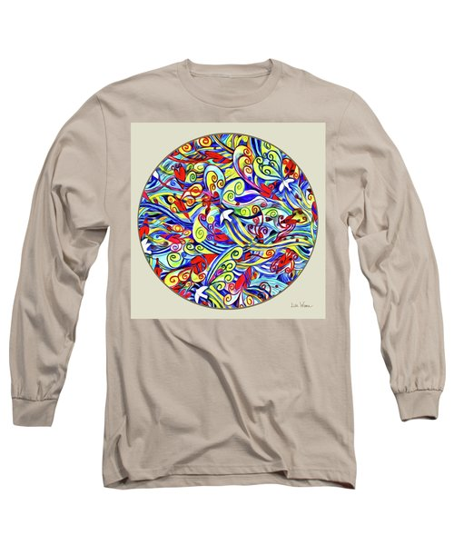 Semi Abstract Paintings Button Long Sleeve T-Shirt