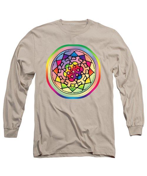 Sephardic Medieval Mandala Long Sleeve T-Shirt