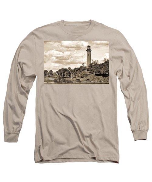 Sepia Lighthouse Long Sleeve T-Shirt