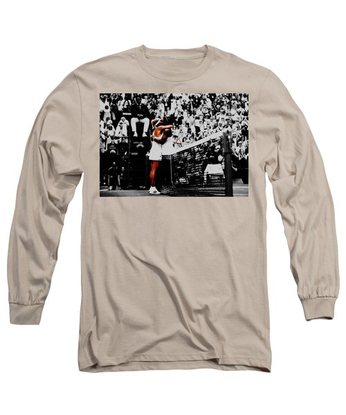 Serena Williams And Angelique Kerber Long Sleeve T-Shirt by Brian Reaves