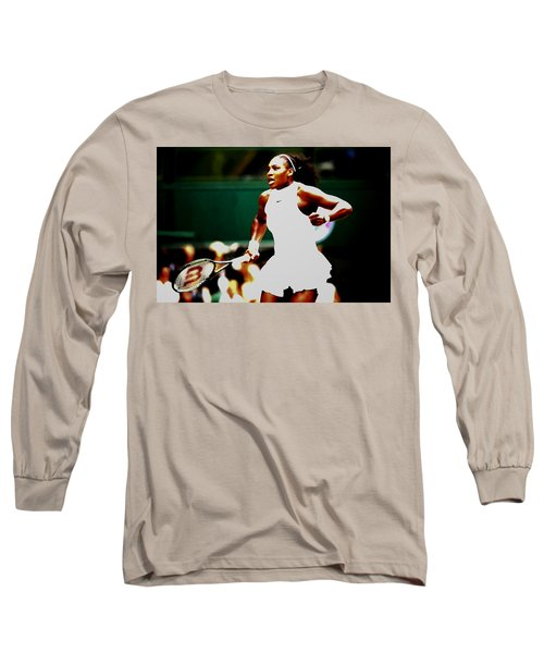 Serena Williams Making History Long Sleeve T-Shirt by Brian Reaves