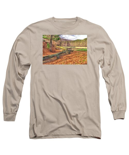 Long Sleeve T-Shirt featuring the photograph Serene Lake by Gordon Elwell