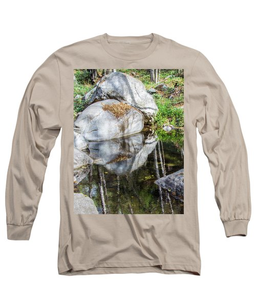 Serene Reflections Long Sleeve T-Shirt by Ed Clark