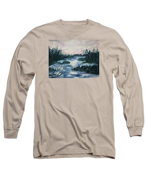 Long Sleeve T-Shirt featuring the painting Serenity IIi by Ellen Levinson