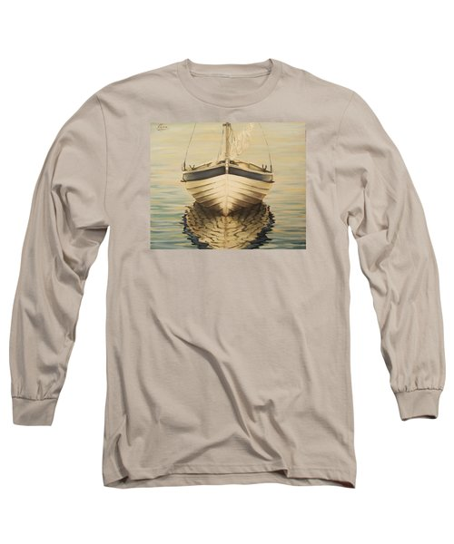 Long Sleeve T-Shirt featuring the painting Serenity by Natalia Tejera