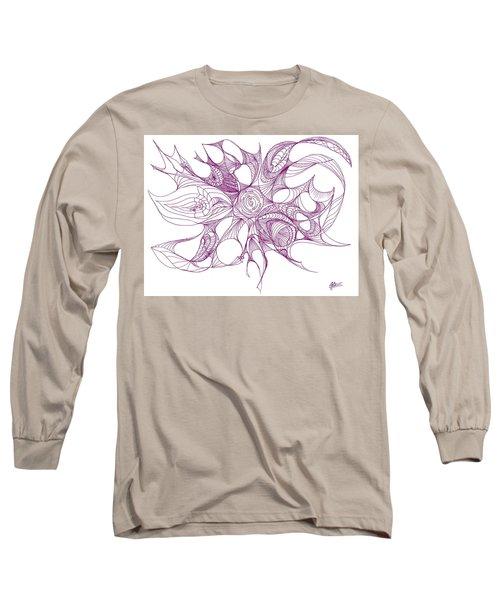 Serenity Swirled In Purple Long Sleeve T-Shirt
