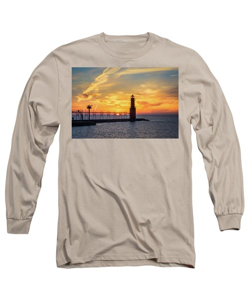 Long Sleeve T-Shirt featuring the photograph Serious Sunrise by Bill Pevlor