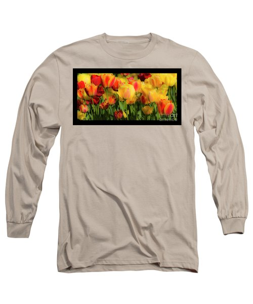 Long Sleeve T-Shirt featuring the photograph Seriously Spring - Bordered by Wendy Wilton