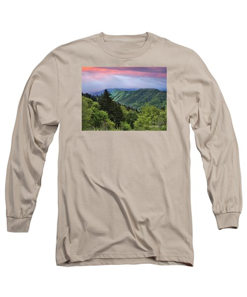 Setting Sun Over The Smokey Mountains Long Sleeve T-Shirt