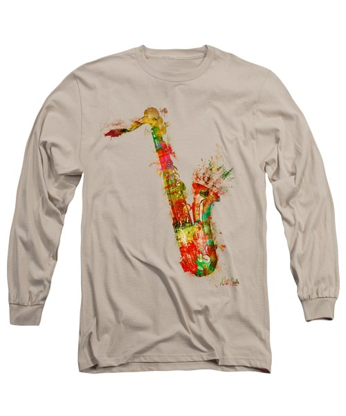 Sexy Saxaphone Long Sleeve T-Shirt by Nikki Smith