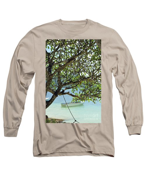Long Sleeve T-Shirt featuring the digital art Seychelles Island by Eva Kaufman