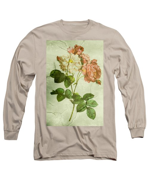 Shabby Chic Pink And White Peonies Long Sleeve T-Shirt