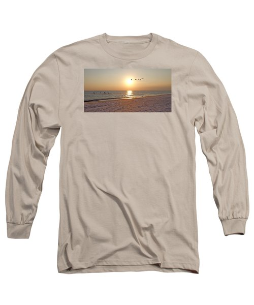Shackleford Banks Sunset Long Sleeve T-Shirt by Betsy Knapp
