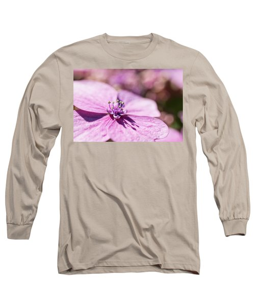 Shadows In Pink Long Sleeve T-Shirt