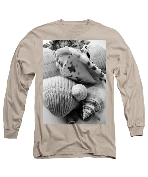 She Sells Seashells Long Sleeve T-Shirt by Julia Wilcox