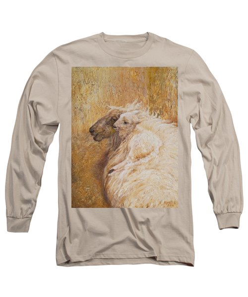 Sheep With A New Born Lamb Long Sleeve T-Shirt