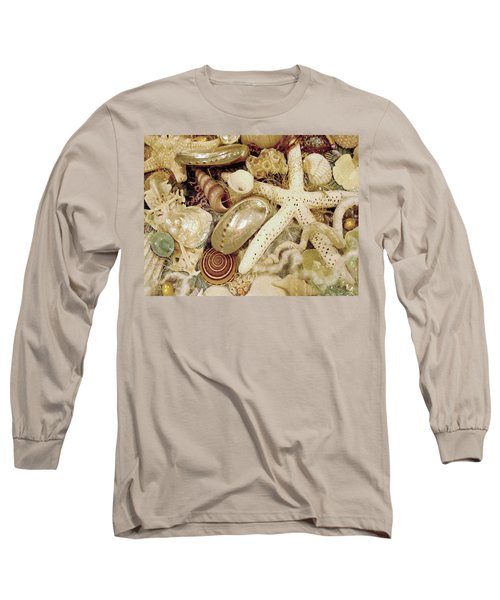 Long Sleeve T-Shirt featuring the photograph Shell Collection by Rosalie Scanlon