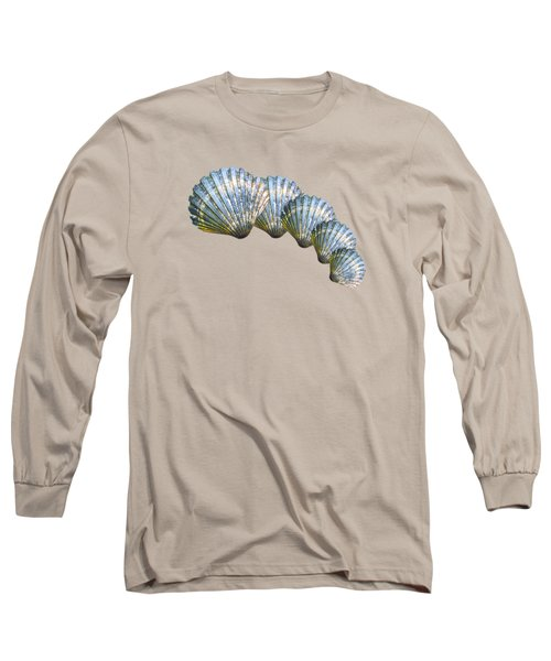 Shell Shape Design Long Sleeve T-Shirt by Mim White