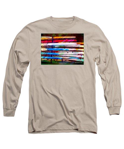 Shells At Henley Long Sleeve T-Shirt by Judi Bagwell