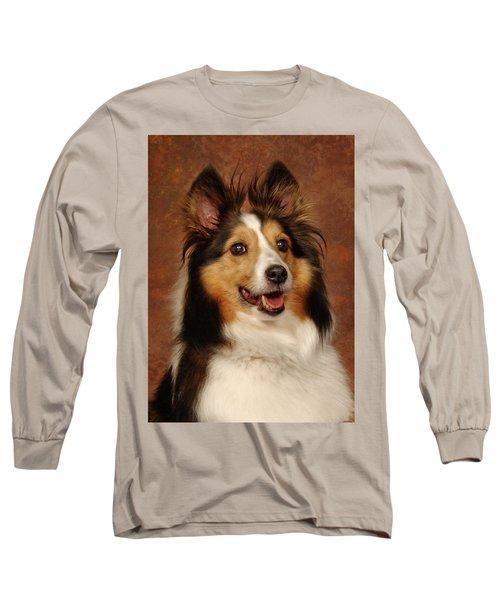Sheltie Long Sleeve T-Shirt by Greg Mimbs