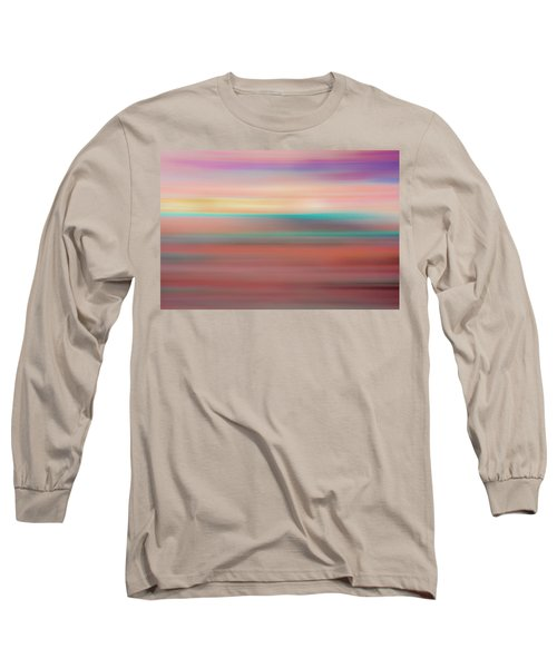 Long Sleeve T-Shirt featuring the mixed media Sherbet IIi by Shara Weber