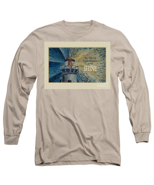 Long Sleeve T-Shirt featuring the painting Shine by Maria Langgle