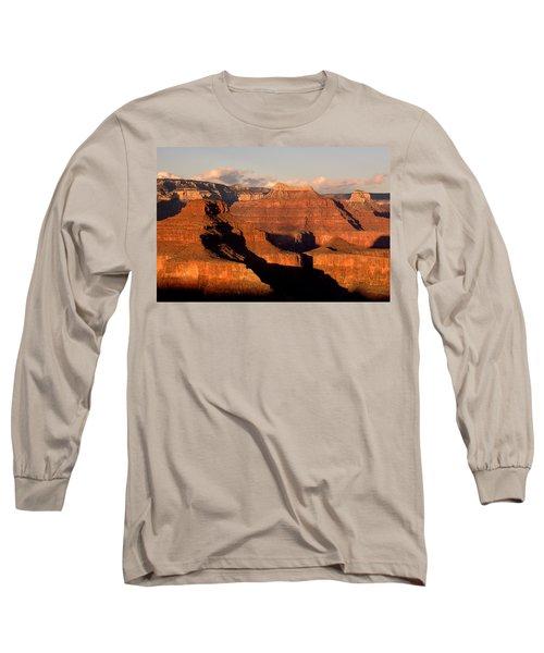 Shiva Temple  At Sunset Grand Canyon National Park Long Sleeve T-Shirt