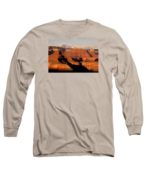 Shiva Temple  At Sunset Grand Canyon National Park Long Sleeve T-Shirt