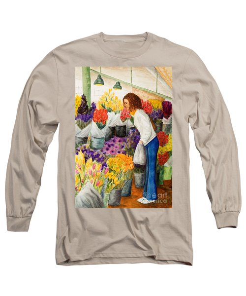 Shopping Pike's Market Long Sleeve T-Shirt by Vicki  Housel
