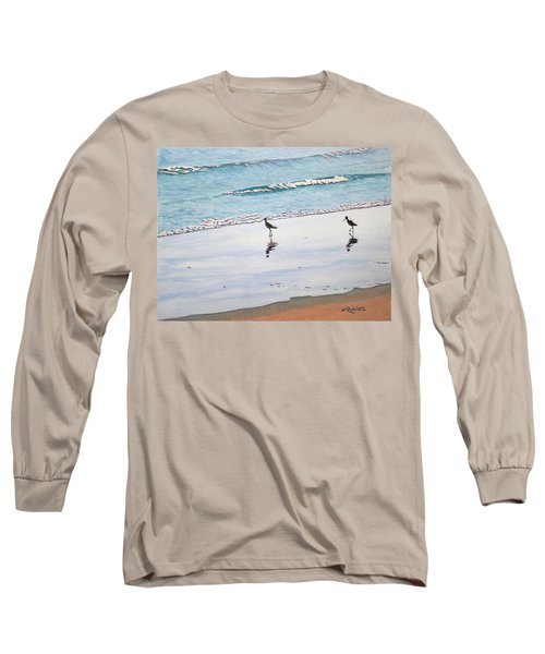 Shore Birds Long Sleeve T-Shirt by Mike Robles