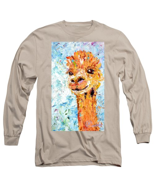 Shorn Alpaca. Where's My Fleece? Long Sleeve T-Shirt