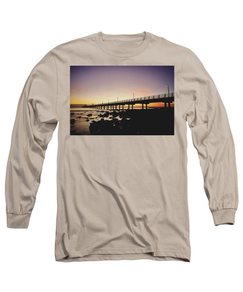 Shorncliffe Pier At Dawn Long Sleeve T-Shirt