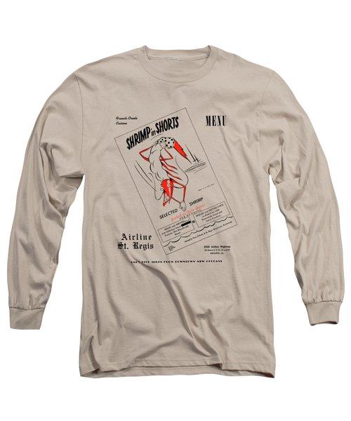 Shrimp In Shorts 1950s Long Sleeve T-Shirt
