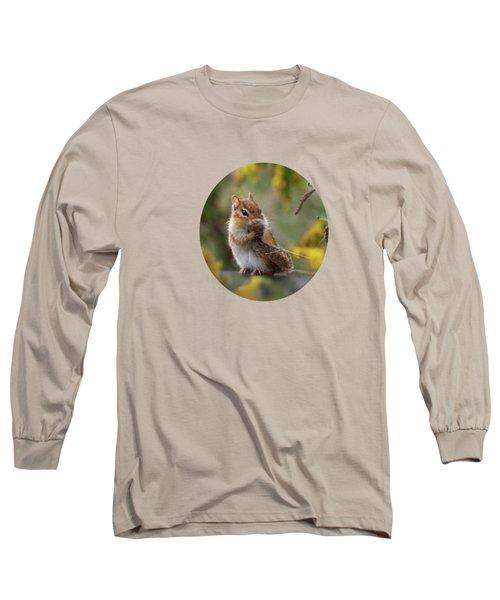 Shy Little Chipmunk Long Sleeve T-Shirt
