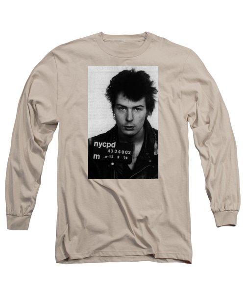 Sid Vicious Mug Shot Vertical Long Sleeve T-Shirt