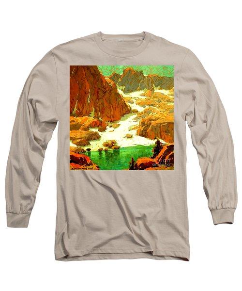 Sierra Landscape Circa 1920 Long Sleeve T-Shirt