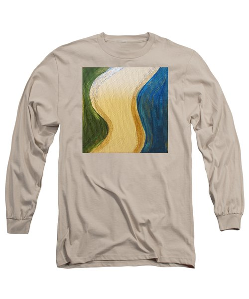 Long Sleeve T-Shirt featuring the painting Sierra Leone Coastline - Freetown - Sierra Leone  by Mudiama Kammoh