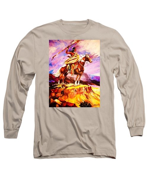 Signalling Sighting Of The Buffalo Herd Long Sleeve T-Shirt by Al Brown