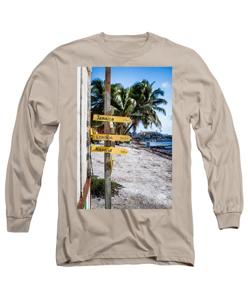 Long Sleeve T-Shirt featuring the photograph Signs by Lawrence Burry