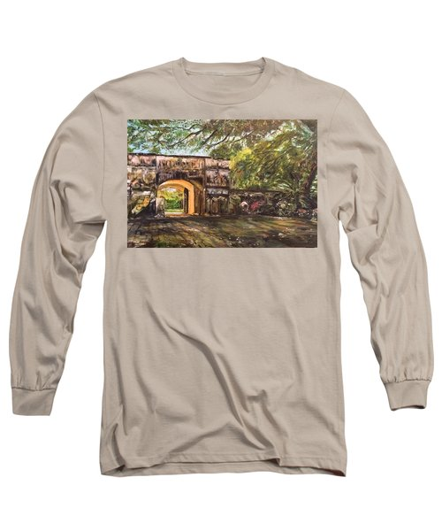 Long Sleeve T-Shirt featuring the painting Silence Is Golden by Belinda Low