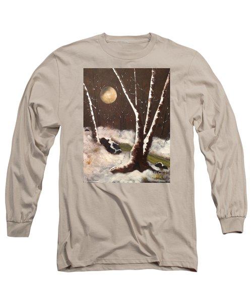 Silent Night Long Sleeve T-Shirt by Denise Tomasura