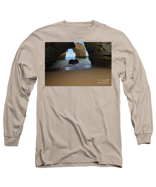 Silky Sands And Arch Long Sleeve T-Shirt by Angelo DeVal