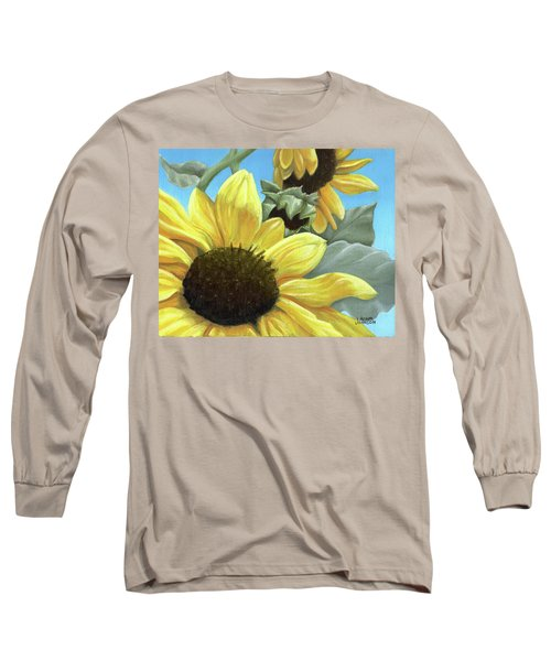 Silver Leaf Sunflower Growing To The Sun Long Sleeve T-Shirt