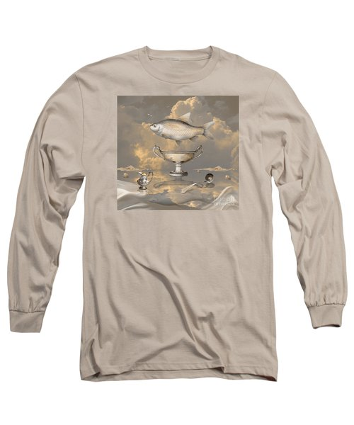 Long Sleeve T-Shirt featuring the digital art Silver Mood by Alexa Szlavics