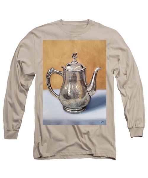 Silver Teapot Long Sleeve T-Shirt